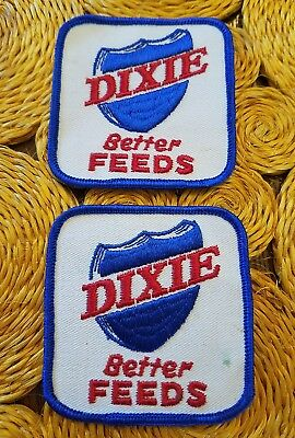 Vintage 3 x3  Dixie  Better Feeds Embroidered Sew On Patches