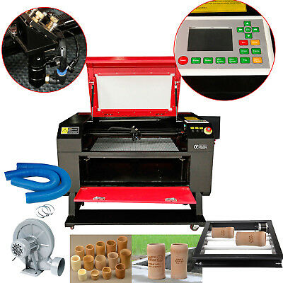 100W USB CO2 Laser Engraving Cutting Machine Cutter 700x500mm w/ Rotary Device