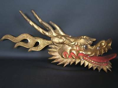Antique old Japanese Japan, temple Ornaments Dragon head statue