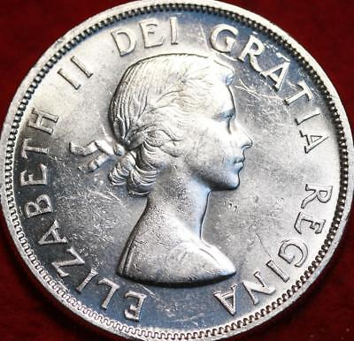 Uncirculated 1957 Silver Canada $1 Foreign Coin