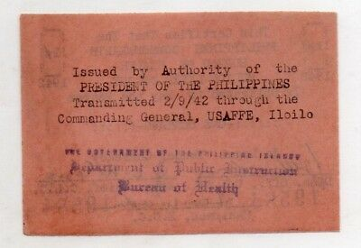 Philippines Culion Leper Colony 1c Centavos WW2 Emergency Currency Note S251