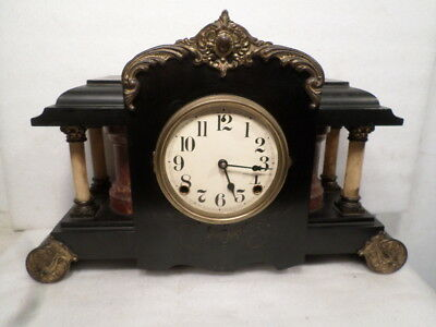 1885 American Full Column Mantle Clock With Gong Strike--Very Nice