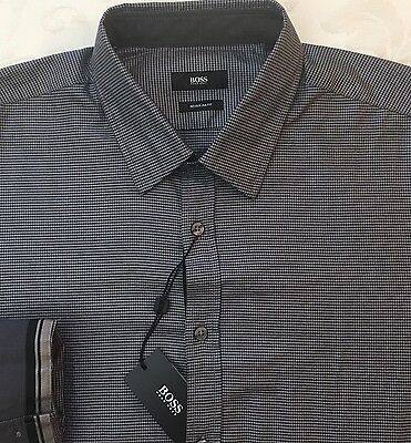 845d7674a ORIG $145 HUGO Boss Shirt LS Mens XL Lukas_51 50373051 410 Regular ...
