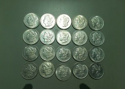 Roll of 20 Uncirculated Morgan Silver Dollars