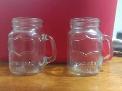 Circleware Mason Yorkshire Jar Mug Salt and Pepper Shakers with Glass Handles