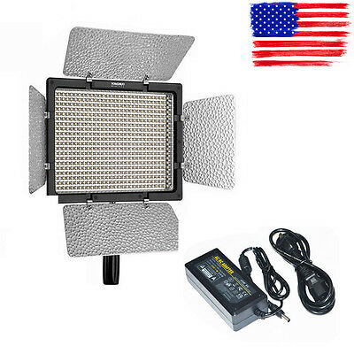 YONGNUO YN600L 600 LED 5500K Studio Video Light + AC/DC Power Adapter In US Ship