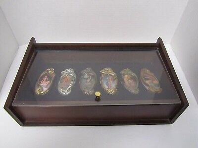 BORIS VALLEJO FANTASY 6 KNIFE COLLECTION WITH DISPLAY CASE VERY NICE Set 2