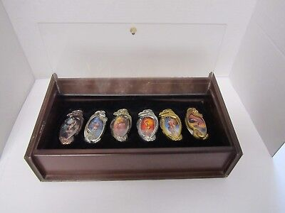 Boris Vallejo Fantasy 6 Knife Collection With Display Case Very Nice