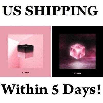 US SHIPPING BLACKPINK-[Square Up]1st Mini Album Random CD+Poster+Book+etc+Gift