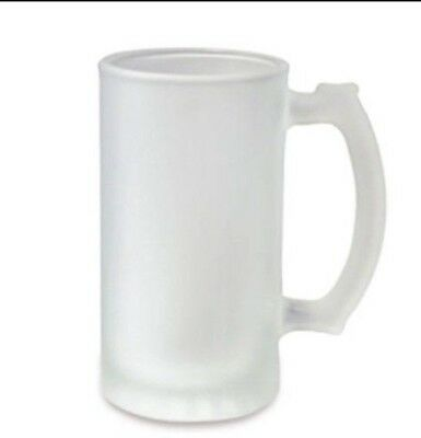 22 Blank Sublimation 16 Oz Frosted Beer Stein Mugs