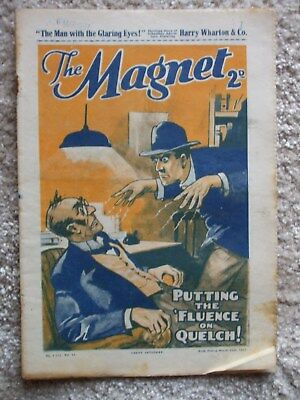 "The Magnet (Billy Bunter) - ""The Man With The Glaring Eyes ""  Single Issue 1937"