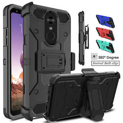 For LG Stylo 4/4+/4 Plus Armor With Stand Kickstand Holster Belt Clip Case Cover