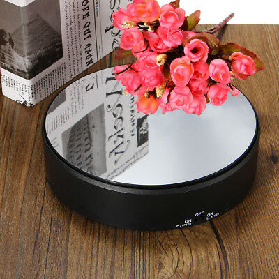 """7"""" Rotating Revolving Jewelry Turn Table Plate Mirror Display Stand Decorating"""