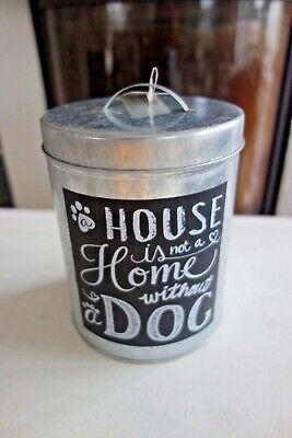 Leckerli Dose Hunde A House Is Not A Home Without A Dog 16 x 13cm Retro Stil NEU