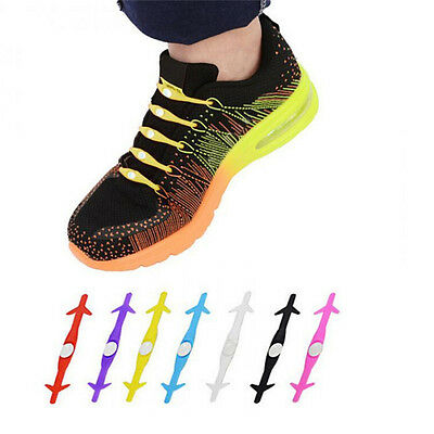 Elastic Lacing System No Tie Shoelaces Kids and Adults Waterproof Silicone WL