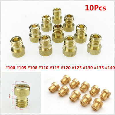 10pcs Motorcycle Scooter Carburetor Carb for GY6 125cc-150cc Carburetor Main Jet