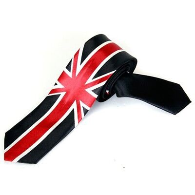 Unisex Leisure Tie Skinny Narrow Tie - Union Jack O7R4
