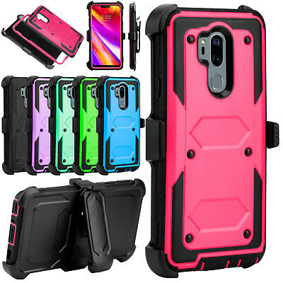 For LG G7+ ThinQ /G7 Phone Case Shockproof Rugged Holster Kickstand Armor Cover