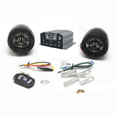 Motorcycle Anti-theft Audio System Stereo MP3 with Remote Control  ATV UTV
