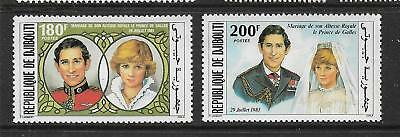 1981 set of 2 Royal Wedding - Prince Charles and Diane Spencer Complete MUH