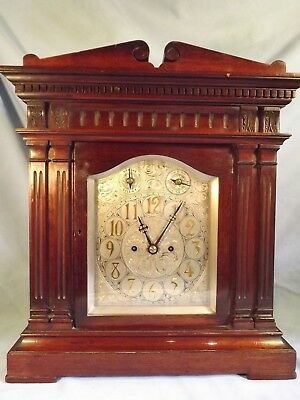 "Mahogany Twin Fusee Bracket Clock ""Smith & Son Clerkenwell London"" C1890."