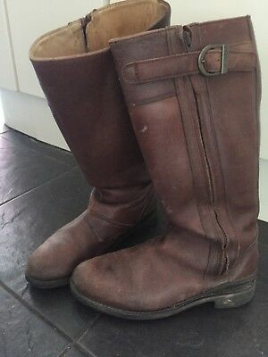 Hunter Leather Boots Size 5