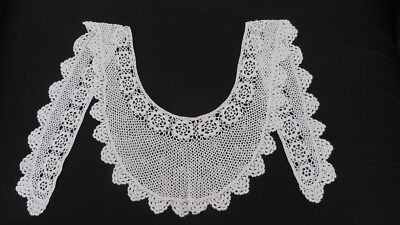 Very Pretty Vintage Hand Made White Crochet Lace Ladies Collar