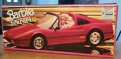Vintage RARE BARBIE FERRARI Red Car NEW IN FACTORY SEALED BOX 1980s Mattel