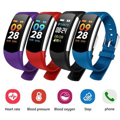 Smart Watch Heart Rate Blood Pressure Monitor Tracker Bracelet For IOS Android
