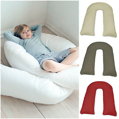 U Pillow OR Case Extra Fill 12Ft Comfort Body Back Support Maternity Pregnancy