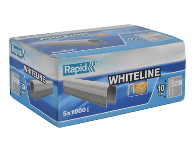 Rapid High Performance No.28 White Cable Staples, Leg Length: 10 mm, 11893511 -
