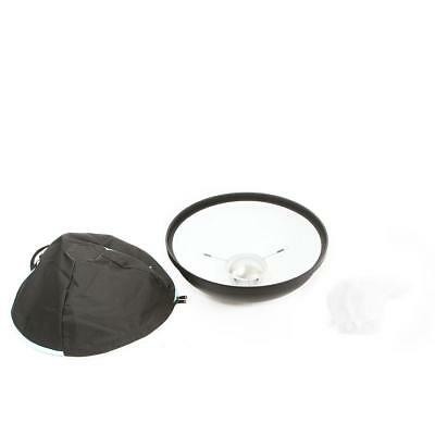"""Broncolor 20"""" Beauty Dish Reflector with Shower Cap Diffuser - White Coating"""