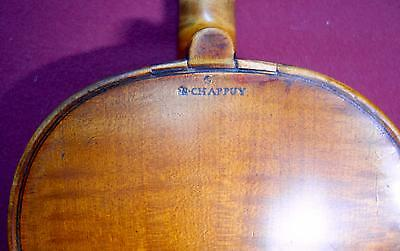 4/4 Nicolas Chappuy Violin Old Fine ca 1730 French Grafted Scroll Amazing! Video