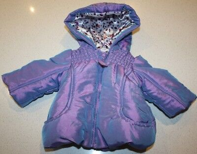 Jack & Milly Girls Hooded Puffer Jacket Coat.  Size 000.  In Euc - As New