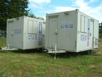 14ft Garic Site Cabin Mobile Welfare Unit, Canteen, Onsite Toilet,