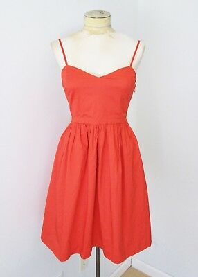 7eb5caffd9 NWT  60 Gap Tomato Red Stretch Cotton Sundress Dress Pockets Adjust Straps 2