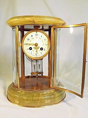 "Superb Large Oval 4 Glass Clock ""Samuel marti"" C1880."