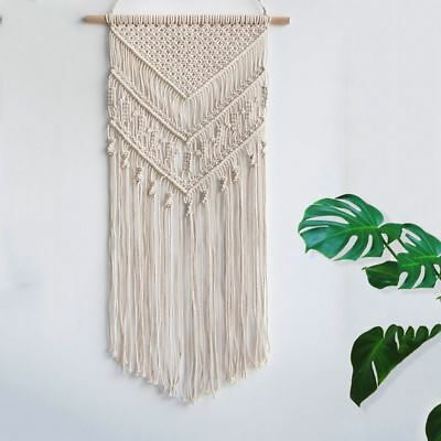 Macrame Woven Wall Hanging Boho Chic Bohemian Home Geometric Art Decor Beau Y2L7