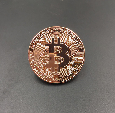Rose Gold Bitcoin Commemorative Round Collectors Coin Bit Coin Plated Coins HOT❤