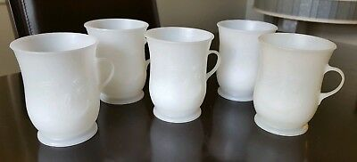 Frosted Plastic Kool Aid Cups - Vintage set of 5