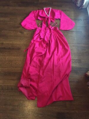 Women's Pink Hanbok Korean Traditional Dress Costume Outfit Vintage