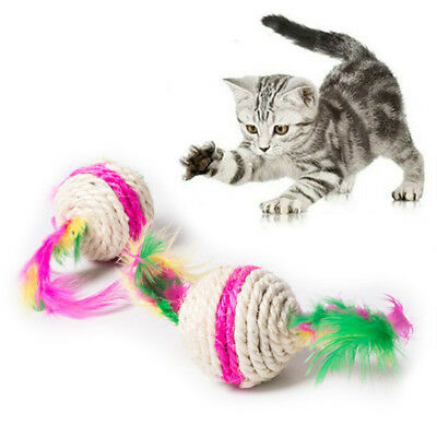 Colorful Cat Toy Ball Interactive Cat Toys Gioca Masticare Rattle Scratch S N2I6