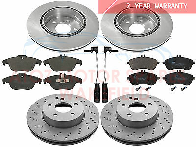For Mercedes C180 C220 C250 Amg Front Rear Brake Discs Platinum Pd Pads Wires
