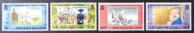 1992 Pitcairn Islands Stamps - 175th Anniversary Death William Bligh - Set 4 MNH