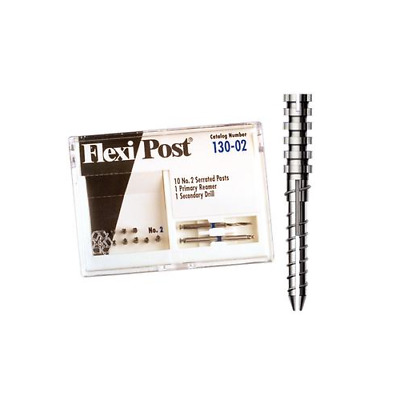 Essential Dental Systems 130-02 Flexi-Post Stainless Steel Posts #2 Blue 10/Pk