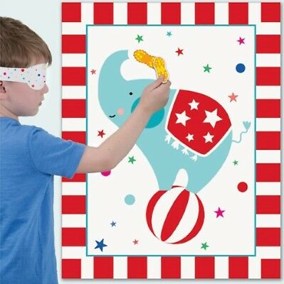Children's Circus Carnival Pin Tail on The Donkey Style Kids Birthday Party Game