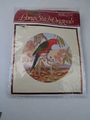 SEMCO Long Stitch Originals Kit  No 3106 King Parrot and Blossoms  New