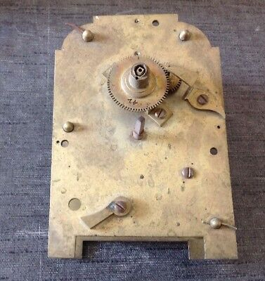 Antique Fusee Clock Movement for Spare Parts  or Repair 165x110mm