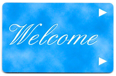Welcome (light blue) , Hotel Room Key Card