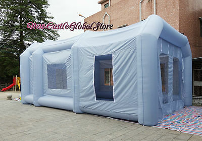 custom made portable 9m by 6m by 4m Oxford cloth inflatable spray paint booth